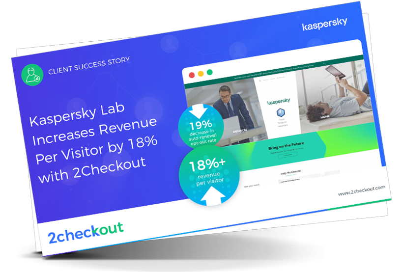 Kaspersky Lab Increases Revenue Per Visitor by 18% with 2Checkout