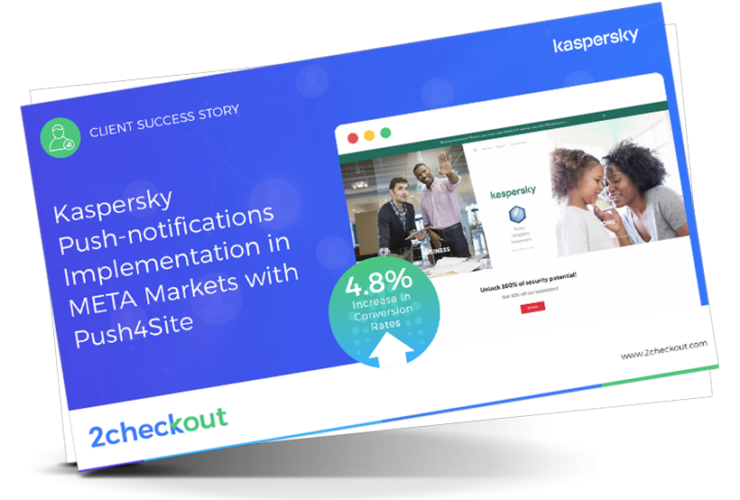Kaspersky Push-notifications Implementation in META Markets with Push4Site