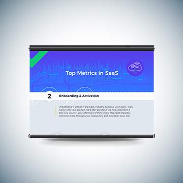 Top Metrics in SaaS - Onboarding & Activation