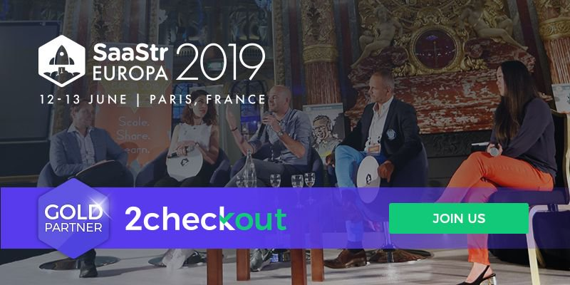 2Checkout Gold Sponsor of SaaStr Europa 2019